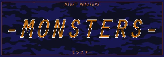 monsters blue and orange chrome