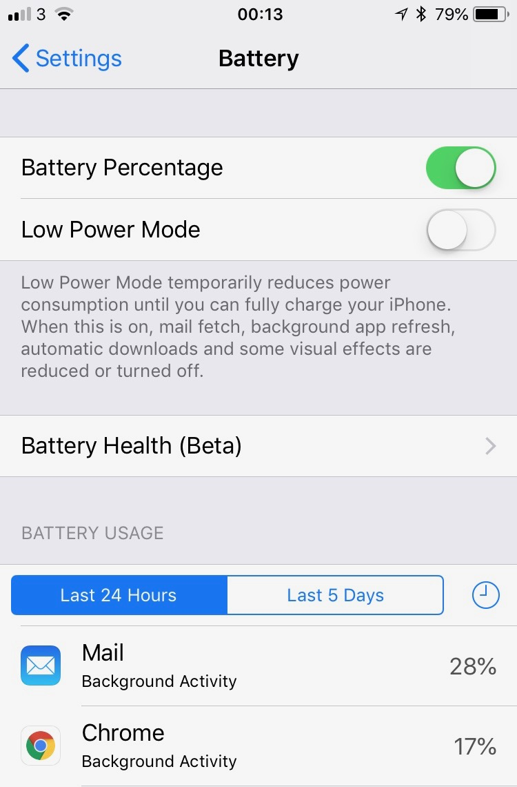 iPhone iOS 11.3 Battery Update